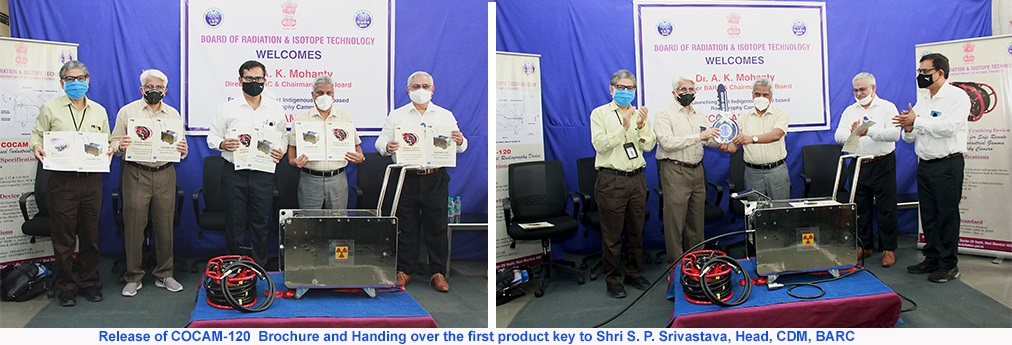 Release of Product Brochure and handling over of first Product key to Head CDM,BARC